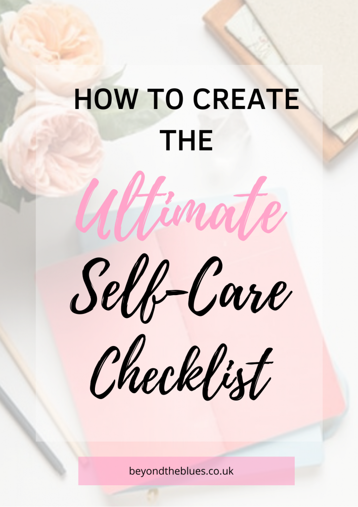 How to create the ultimate self-care checklist pin