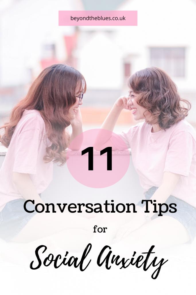 conversation tips for social anxiety #mentalhealth #mentalhealthtips #anxiety