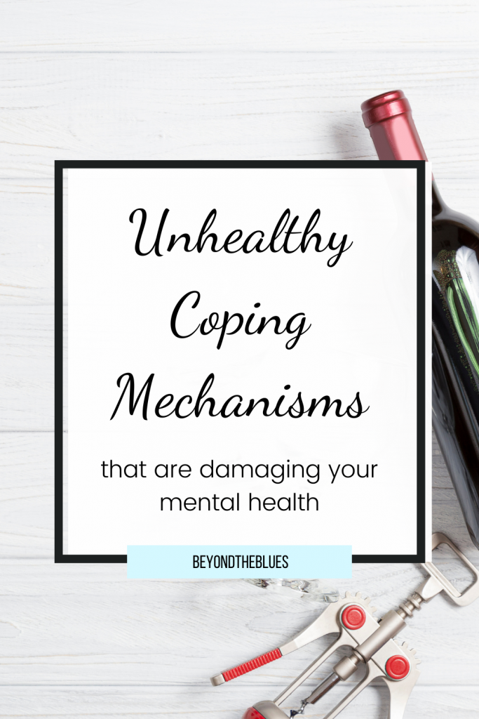 unhealthy coping mechanisms that could be damaging your mental health #depression #mentalhealth