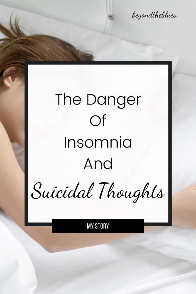 Insomnia is driving me crazy - the dangerous truth about insomnia and suicidal thoughts. My story #depression #anxiety #insomnia #sleep #suicide